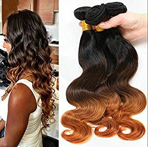 Wigsforyou@Grade 7A Wet And Wavy Virgin Brazilian Virgin Hair Ombre Body Wave 3 Tone Color 1B/4/30 Human Hair Extension Cheap Hair Bundles