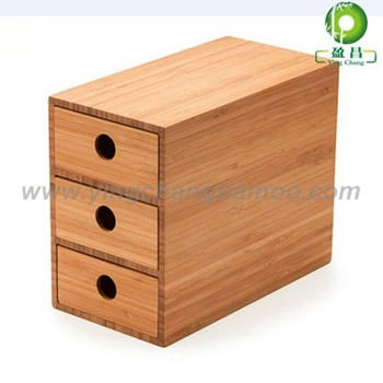 Bamboo Office Desk Stationery Organizer Office