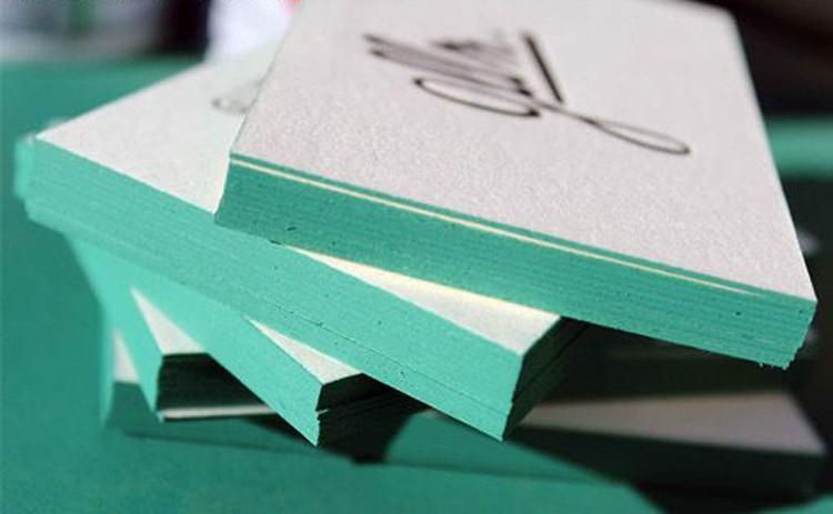 Impression De Carte Visite Personnalisee Coloree Par Bord Papier Coton 600gsm