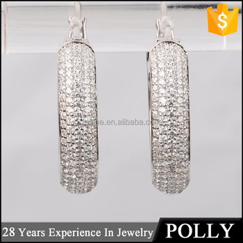 7001ee85e China Jewellery Ss 925 Silver Cz Hoop Ring Type Earring Wholesale ...