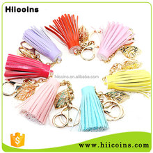 Wholesale Cheap Colorful Bag Accessories Handmade leather Tassel Keychain