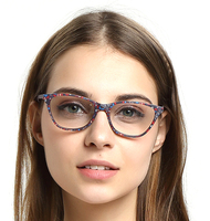 wenzhou glasses acetate optical frame brand factory online shopping with spring hinge cat eye frame