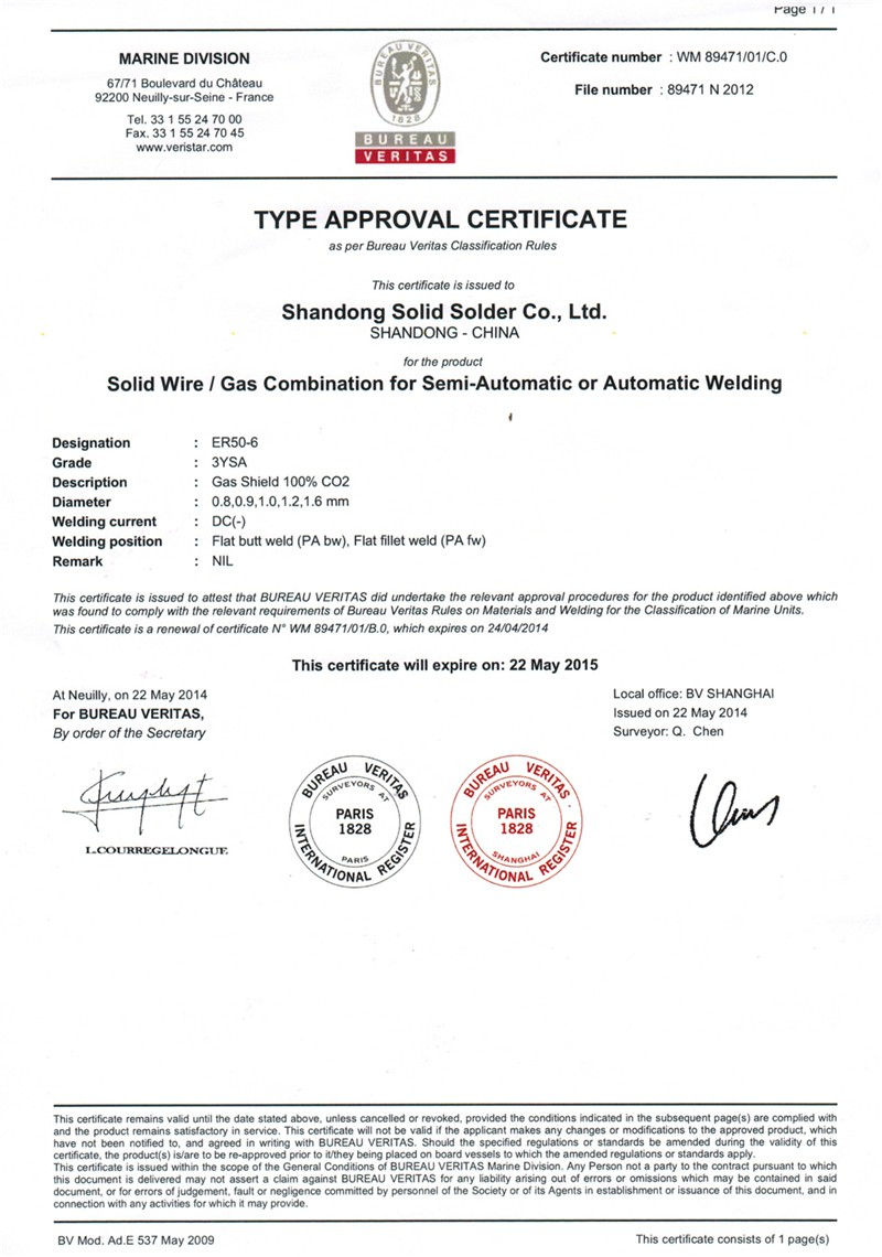 Db Tuv Ce Certificates Welding Material/co2 Wire/mig Wire/welding ...