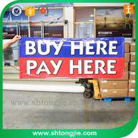 TJ-1006 Factory price Outdoor PVC Wind Vinyl Banner, Custom Vinyl Promotion Vinyl Banners and Signs