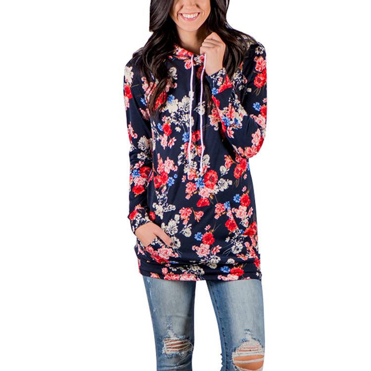 35bd67e022e Gran venta caliente patrón Floral impreso Tops de manga larga mujeres  mancha blusa
