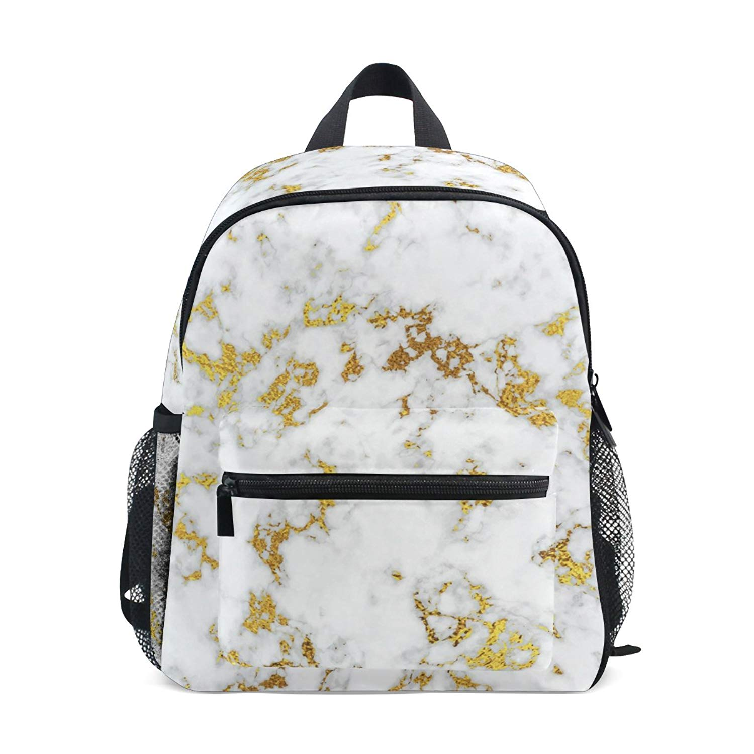 2282e840babf Get Quotations · ColourLife Kids Book bag Marble With Gold Backpack School  Bag for Girls Boys