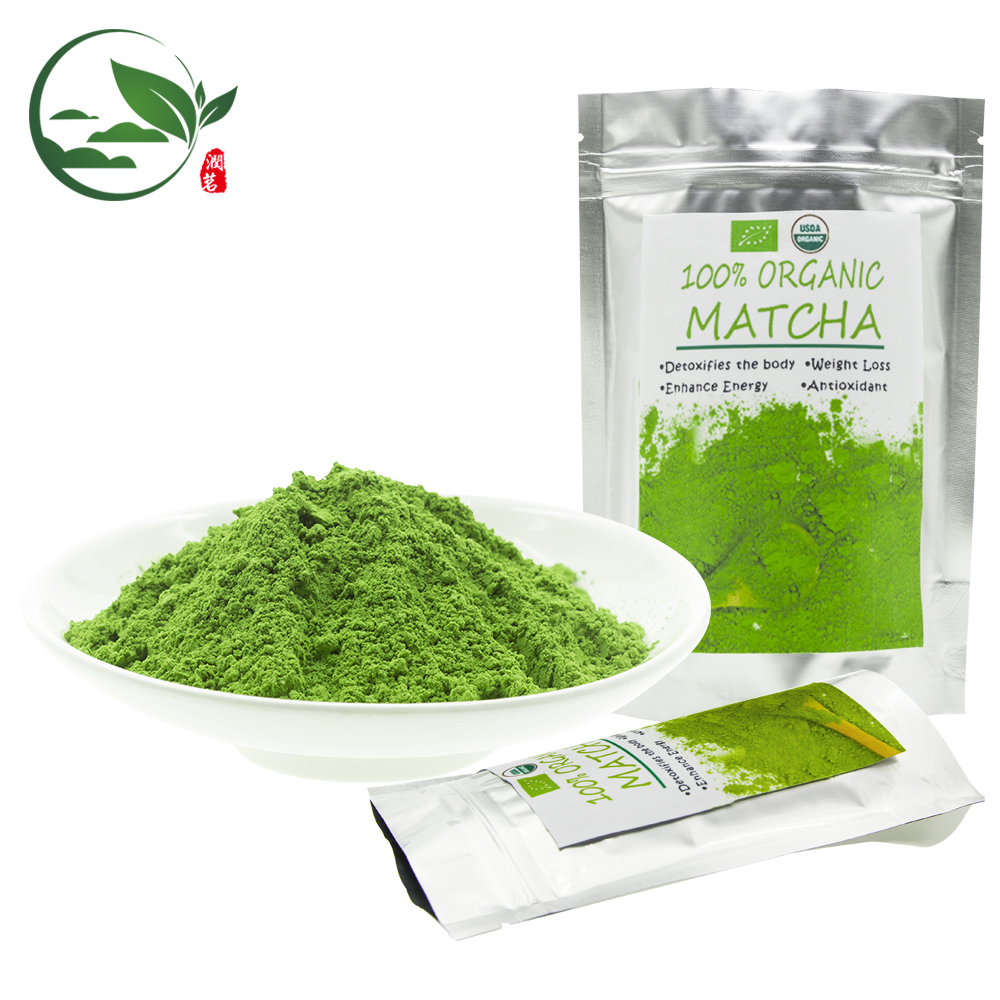 USDA EU Certified Premium Japanese Shizuoka Organic Standard Green Tea Extract Machine Matcha Cermonial Tee Drink Powder