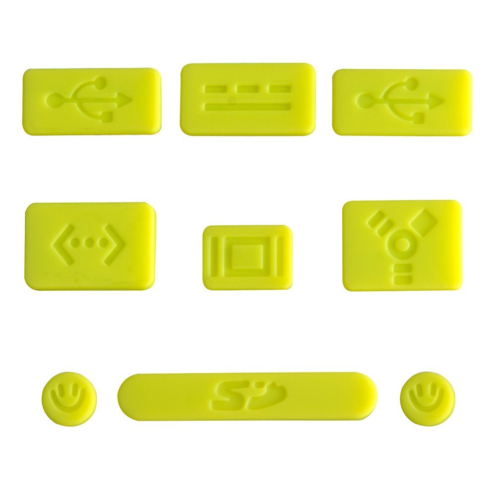 """AGPtEK Green 9pcs Silicone Anti Dust Port Plugs for Macbook Pro 13""""& 15"""", 2 x USB plug/ 2 x Audio 3.5mm plug/ 1 x SD plug/ 1 x RJ45 plug/ 1 x Mini/ DP/Mini DVI plug/ 1 x Power plug/ 1 x IEEE1394 plug"""