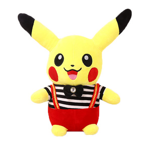 Promotion Cheap Wear Clothing Stuffed Cartoon Toys Pokemon Pikachu Plush toy For Kids