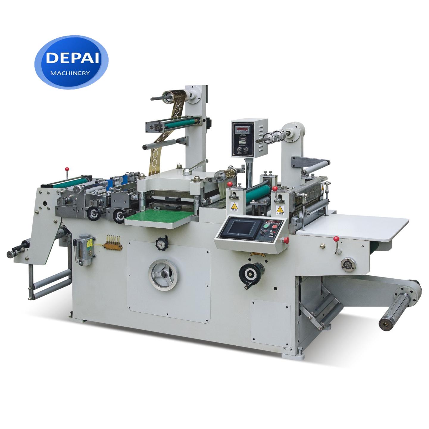 FPL320-2 320 มม. 2 3 4 5 6 สีป้ายโลโก้ Die ตัดเครื่องเป่า UV Flexographic Flexo Printing Machine