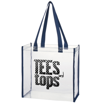 Travel transparent promotional PVC tote bag for shopping with customized logo