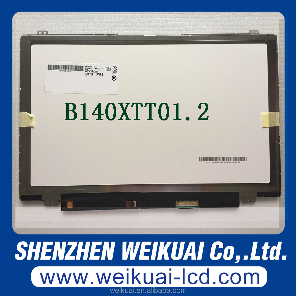 Brand new laptop screen 1366*768 for 14.0 inch Digitizer LCD display for B140XTT01.2
