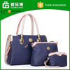 Factory PU leather bag 3 in 1 set brand women hand bag