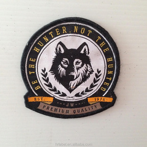 high quality cheap wholesale hot sale Woven Patch Label with Merrow Border, Customized Designs Welcome