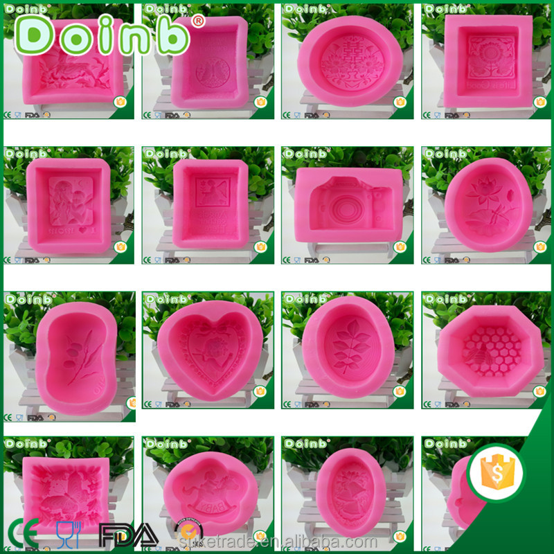 Doinb china wholesale supplier custom 3D leaf printed silicone handmade bar soap molds mold for DIY ST2913