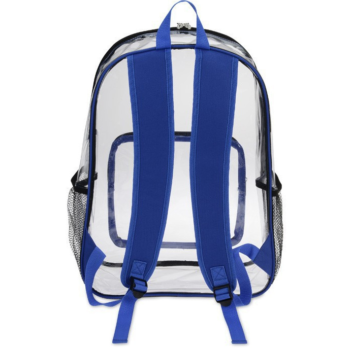 Fashion colorful customized clear PVC student <strong>backpack</strong>