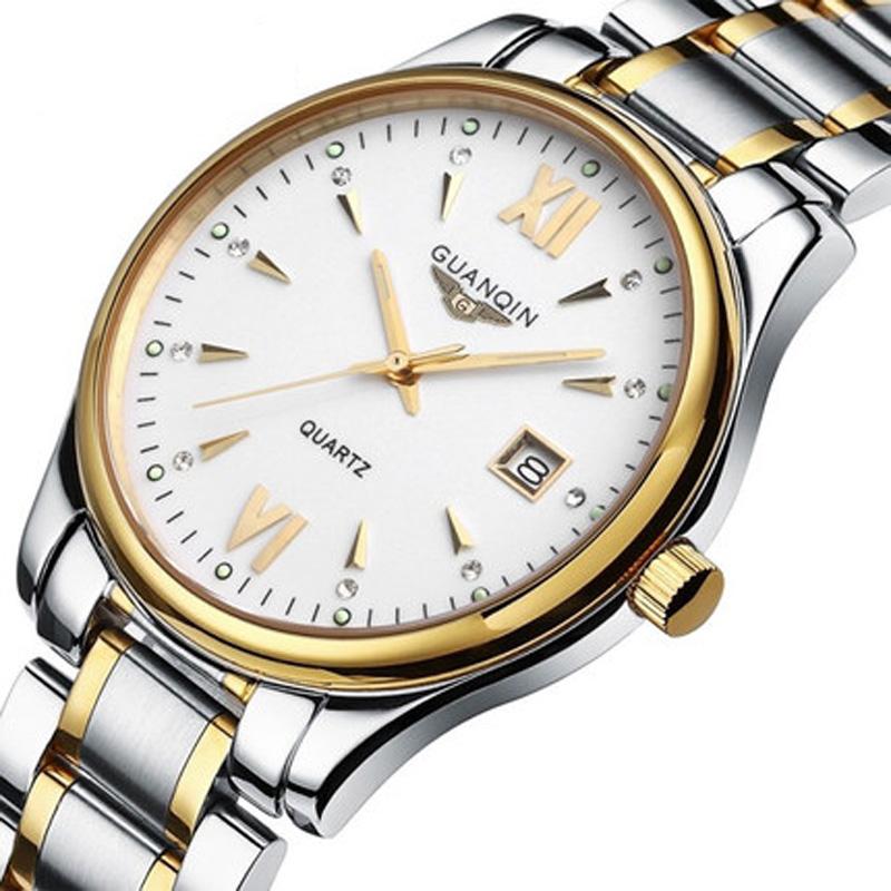 aba33967683 ... Vestido Homens relógio de Pulso relogio masculino. Hot Watch Men luxury  brand GUANQIN New fashion Men s Quartz Watch Casual Watch Dress watch