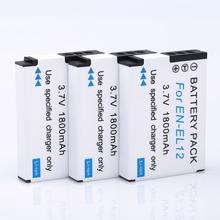 [HI-BTY] 3pcs 1800mAh EN-EL12 Li-ion Battery for Nikon CoolPix S8000 S610 S620 S70 S9100 S1100 High quality Digital Batteries