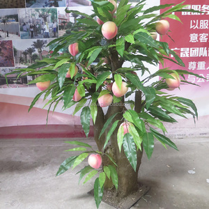 High Simulation Fruit Tree Plants Artificial Peach Fruit Tree for Sale
