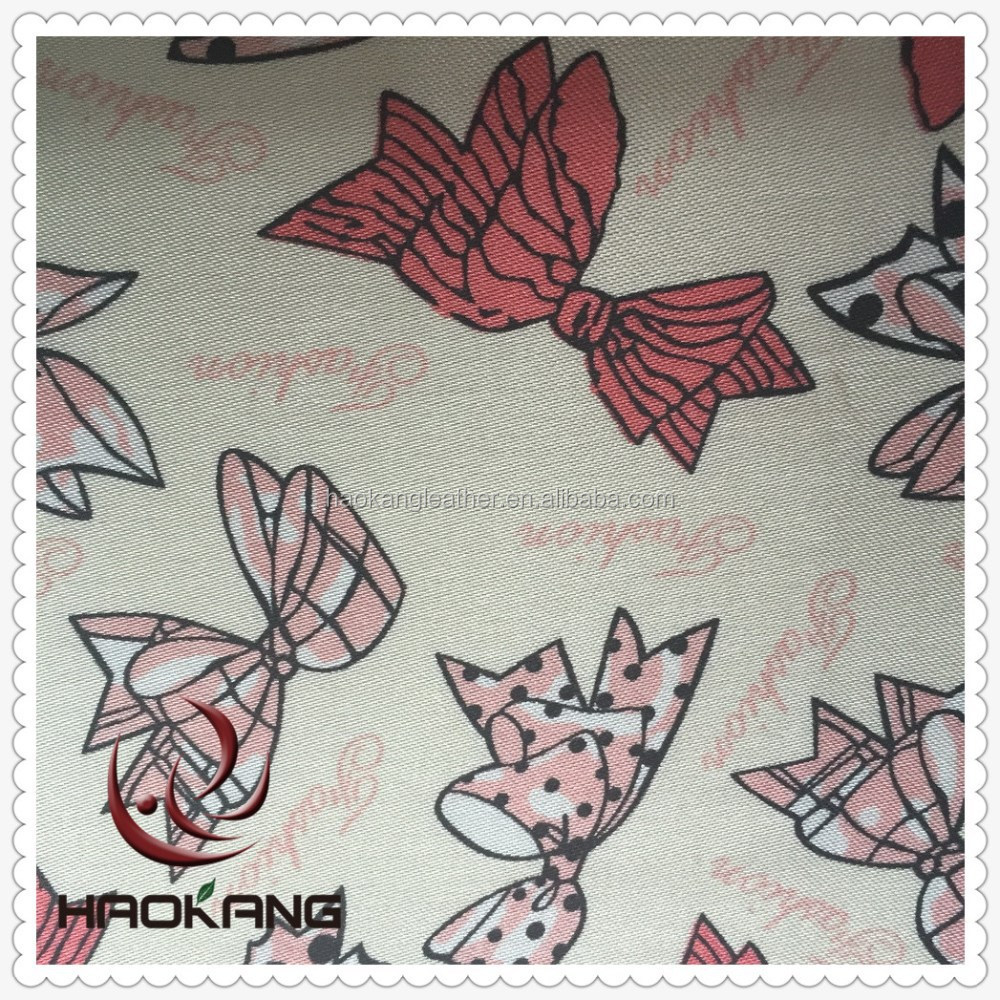 Butterfly printed satin cloth for making bag