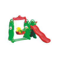 Small plastic baby swing and slide set kids indoor slide