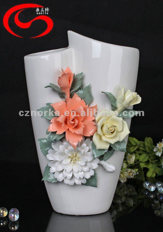 Free shipping Brief fashion crafts decoration housewarming gift rose ceramic vase