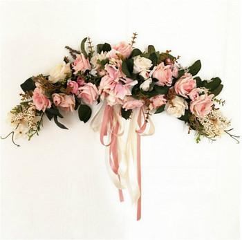 Silk rose hydrangea flower swag buy hydrangea swagdecorative silk rose hydrangea flower swag mightylinksfo