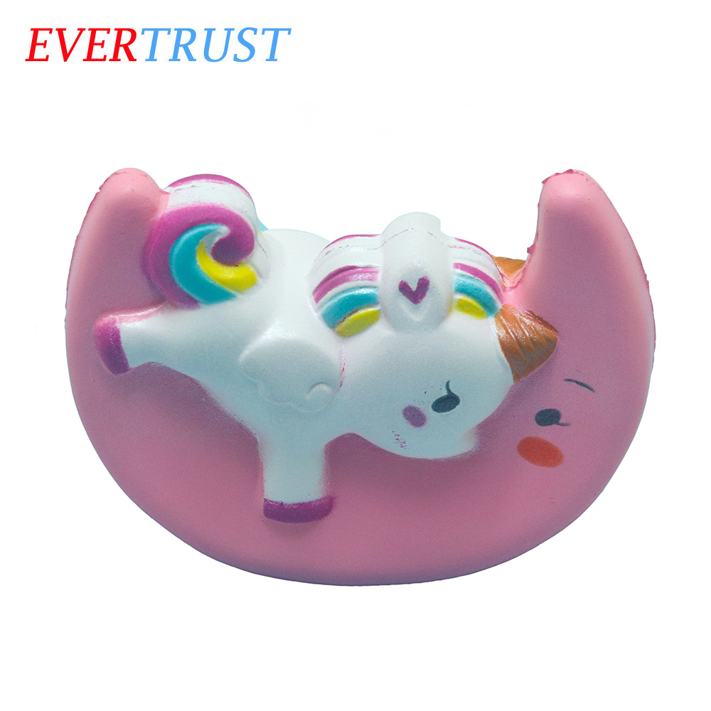 Hot sale high quality pink moon slow rising toy cute rainbow unicorn squishy toys