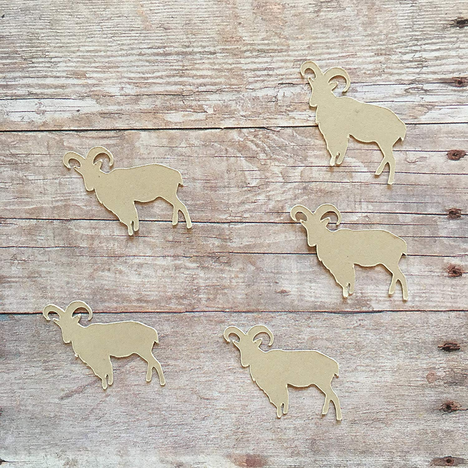 Mountain Goat Confetti, Goat Decorations, Animal Party Supplies, Woodland Theme, Animal Theme, Table Scatter, Rustic Theme, Goat Cut Out