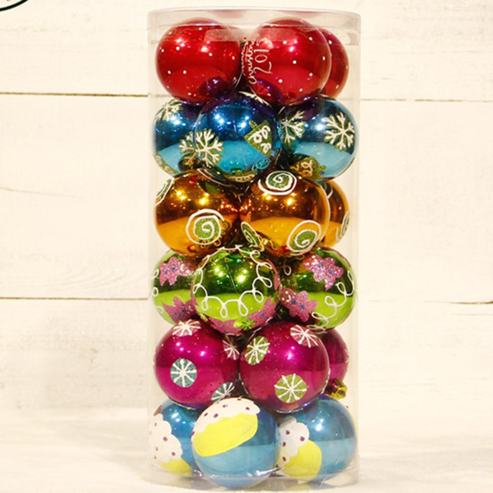 Bulk Christmas Ornaments Balls: 24pcs-6cm-wholesale-Top-quality-luxury-plastic-christmas