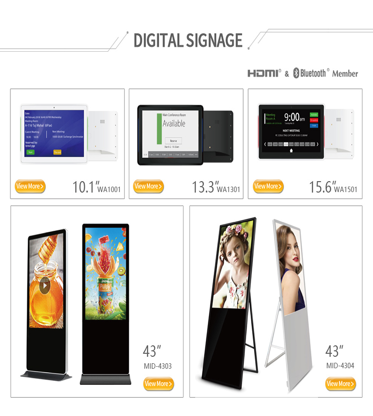 Lcd Advertising 37 Inch Ultra Wide Stretched Bar Monitor Display Rj45 Player 8g Wall Mounted Digital Signage