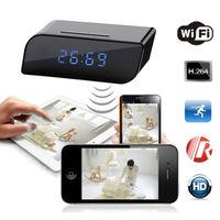 Motion Security Alarm Clock IR DV Cam HD 720P Wireless Wifi IP Spy Hidden Camera