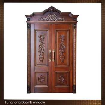 FD0013- Factory Price Custom Made Awesome Luxurious House Teak Wood Front Main Entrance Double Door & Fd0013- Factory Price Custom Made Awesome Luxurious House Teak Wood ...