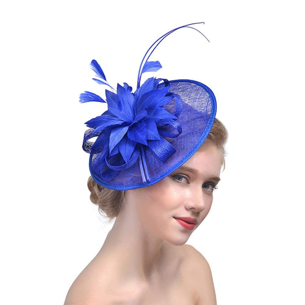33fa870e RAGAN Bridal Fascinator Hat,Women's Party Wedding Cocktail Headwear Hats  Pillbox Hat Hair Clip Headband