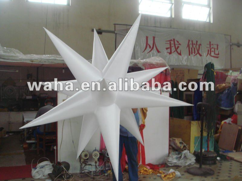 2012 exotic 12 point inflatable star for stlish event decoration