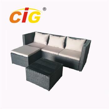 Quickest Delivery Time European Standard Rattan Cube Garden Furniture