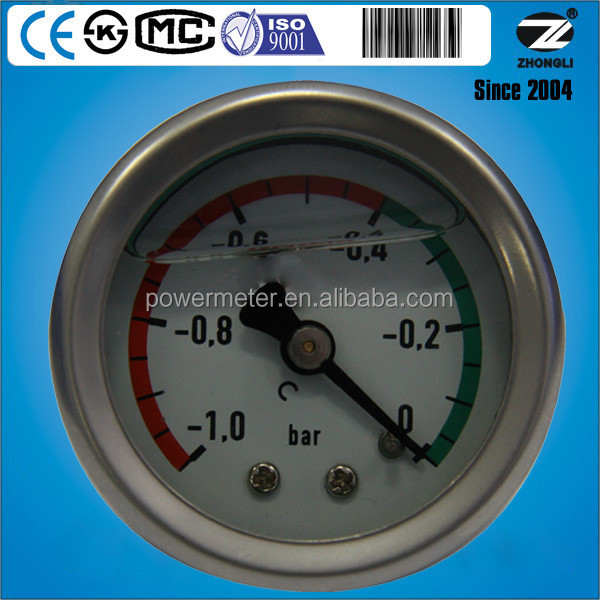 40mm 1.5 inch stainless steel bar oil pressure gauge vacuum measurement