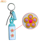 100% Brand New Plastic Soft PVC Keyring Key Ring Chain Fob Perfect Addition To Your Keys