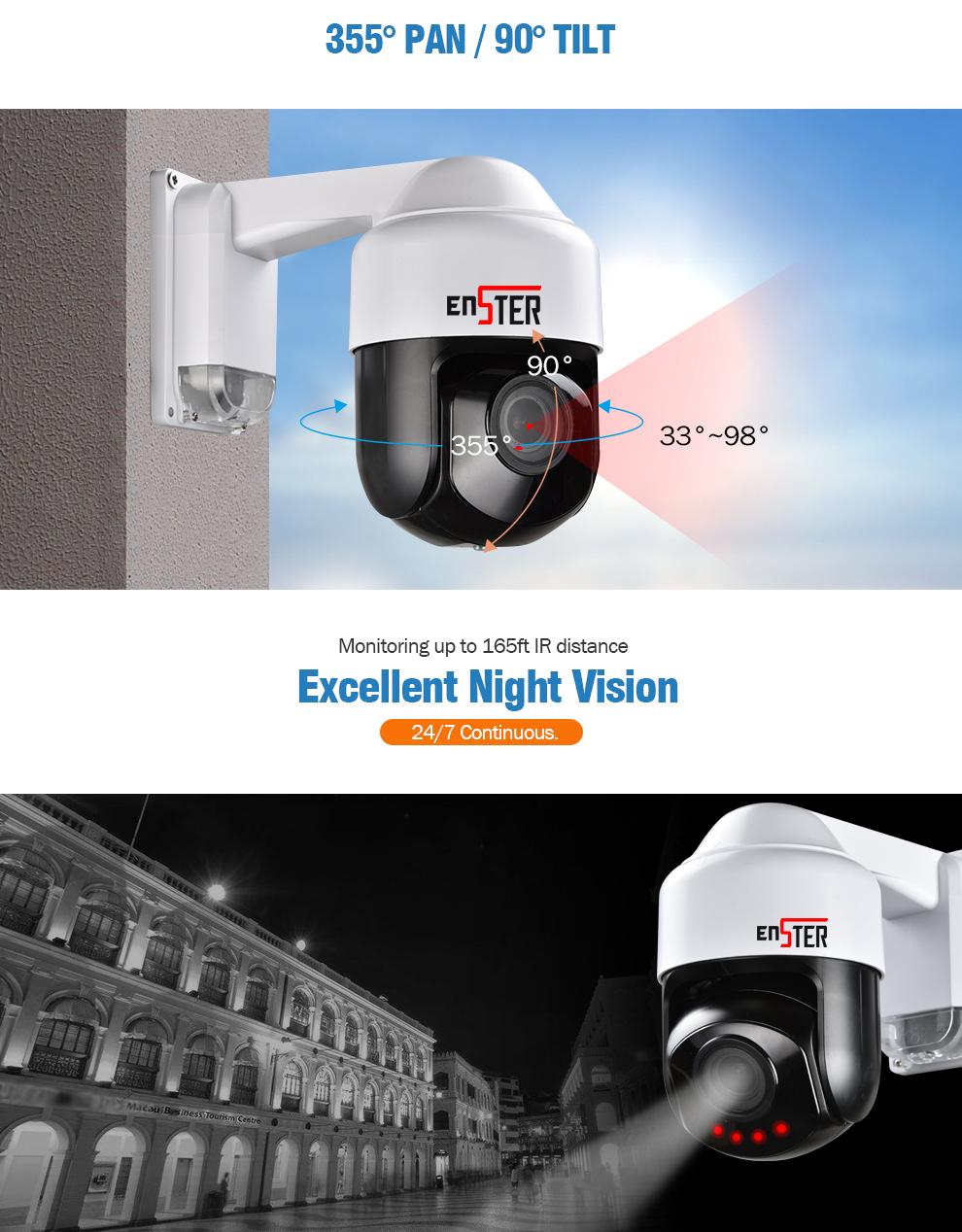 Definisi Tinggi 265 POE 1080 P 5MP Ip Kamera 5 Megapiksel Mini Speed Dome PTZ Pan Tilt Dome CCTV