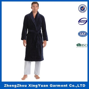 Coral fleece bathrobe Factory cheap coral fleece robe polar fleece SPA  hooded men bathrobe embroidered robe 7cd985bd3
