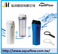 Made in Taiwan Transparent White Blue Filter Cartridge housing for Water Purifier