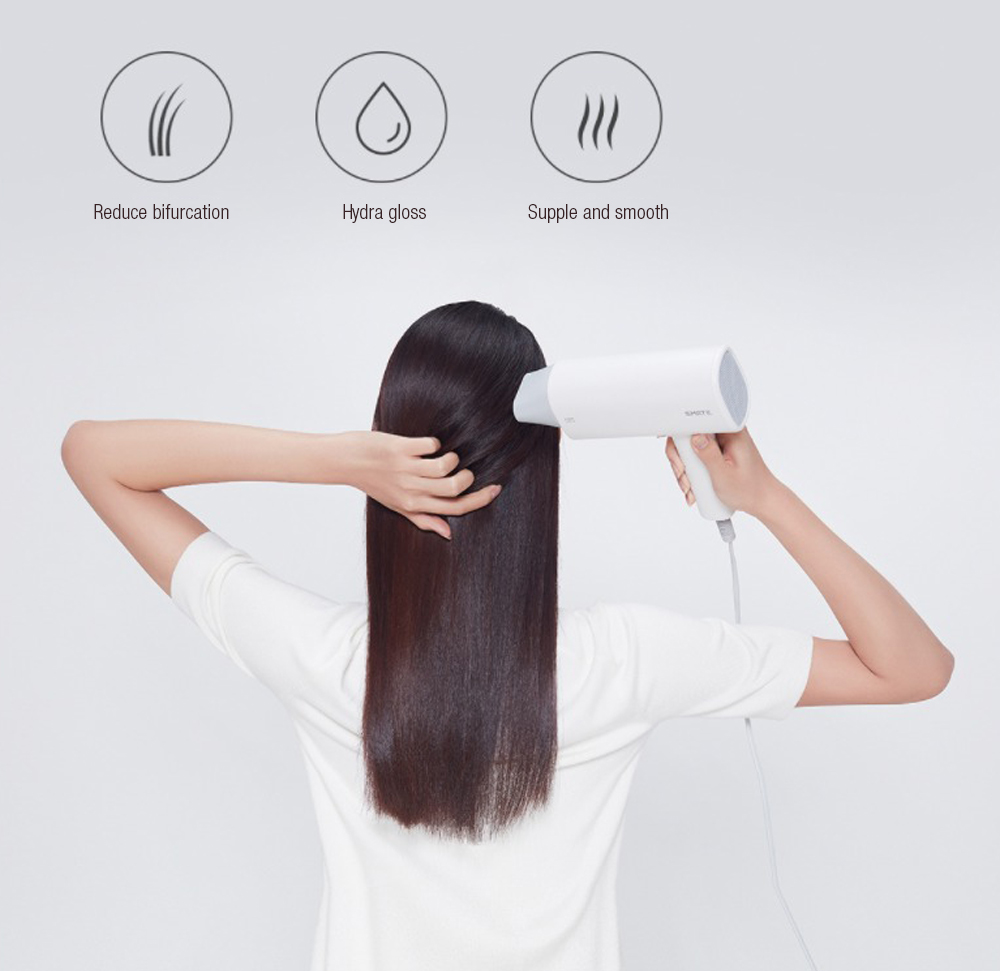 Xiaomi Smate SH-A161 Hair Dryer Salon 1600W Double Negative Ions 2 Speed hotel hair dryer