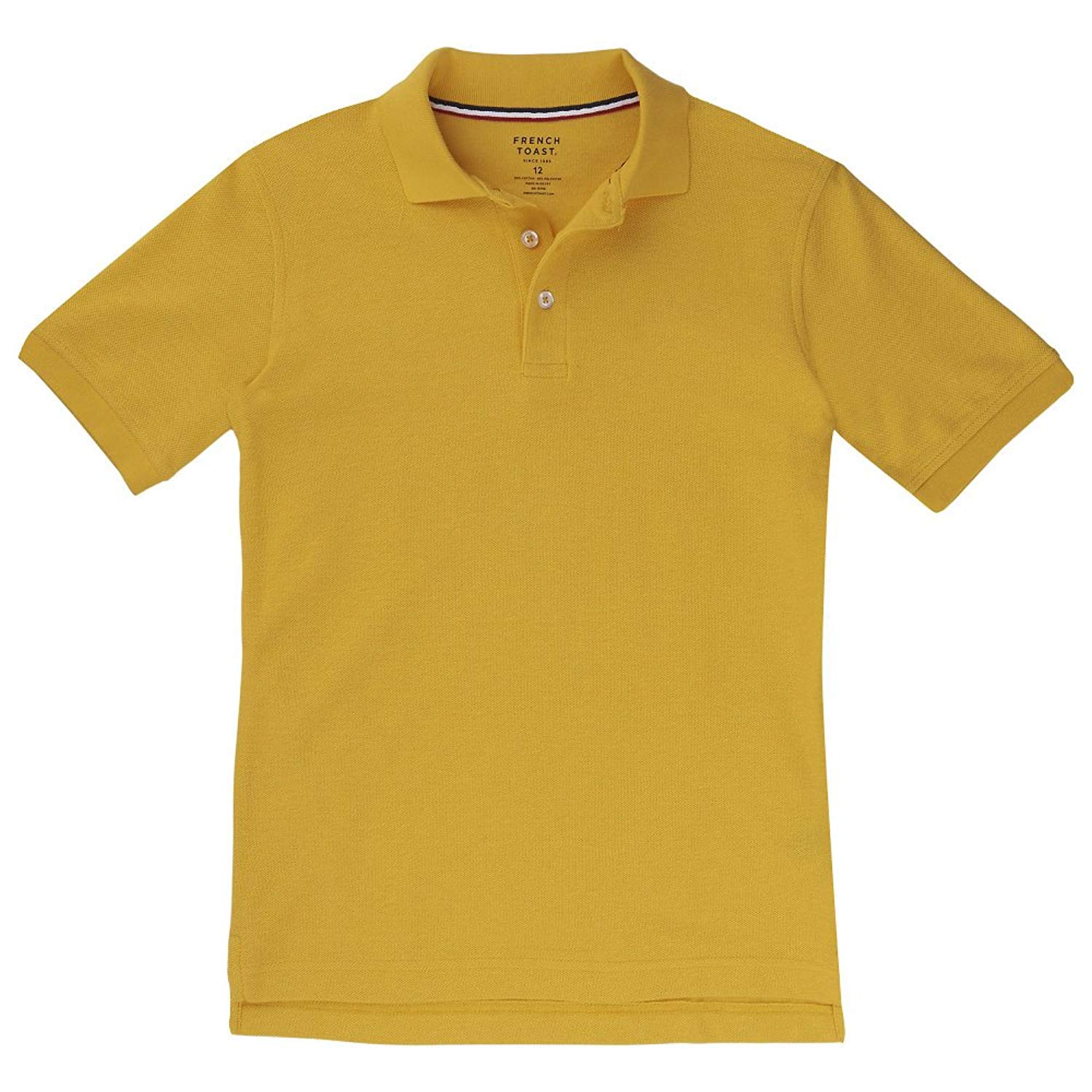 French Toast Short Sleeve Pique Polo Boys Gold 16