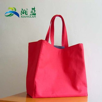hot sale customized shopping bag with leather handle