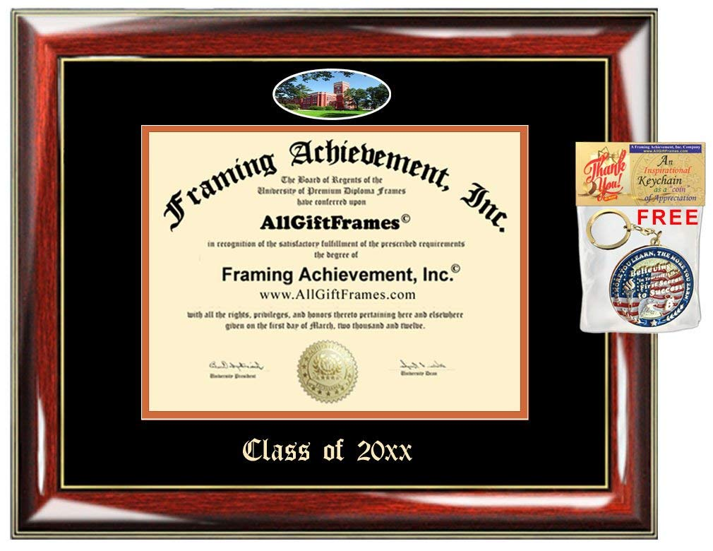 AllGiftFrames Custom Diploma Frame Embossed Ohio Northern University College Best ONU Graduation Degree Frame Double Mat Campus Fisheye Picture Frame Cheap Certificate Graduate Gift