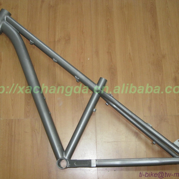 Titanium Mountain Bicycle Frame With Taper Headtube With Breeze Dropout  Xacd Mtb Bike Frame With Sandblasting Finished - Buy Xacd Mtb Bike