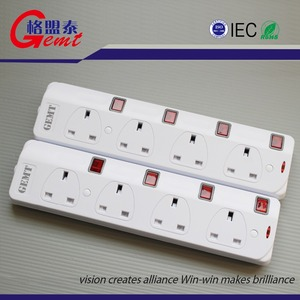 SASO/G-Mark/UL listed space saving 4 outlets surge protector smart power strip