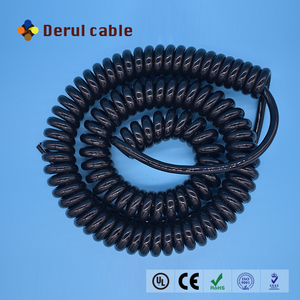 2 core 3 core 4 core 5 core 6 core 7 core PVC/PU spiral cable ,spiral cord,coiled cable