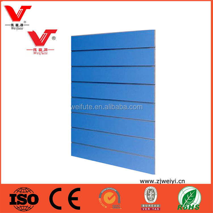 HIgh quality wholesale melamine paper faced slatwall with good price