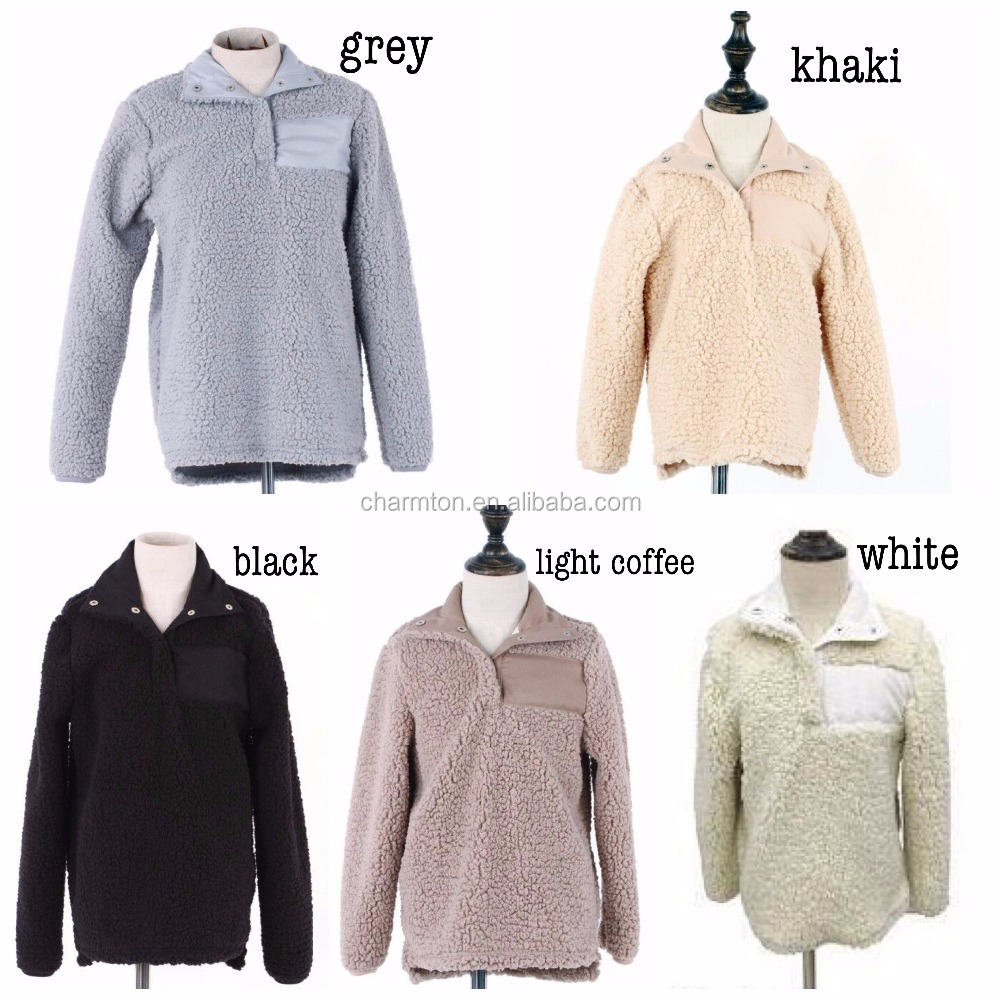 Wholesale Monogrammed Personalized Sherpa Pullover - Buy Sherpa ...